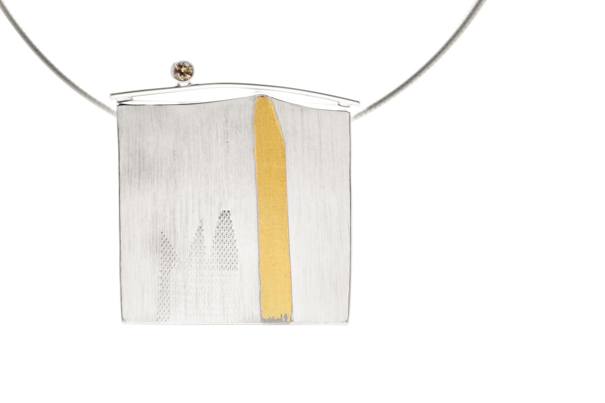 Anhänger, Gelbgold, Silber, Brilliant 498€