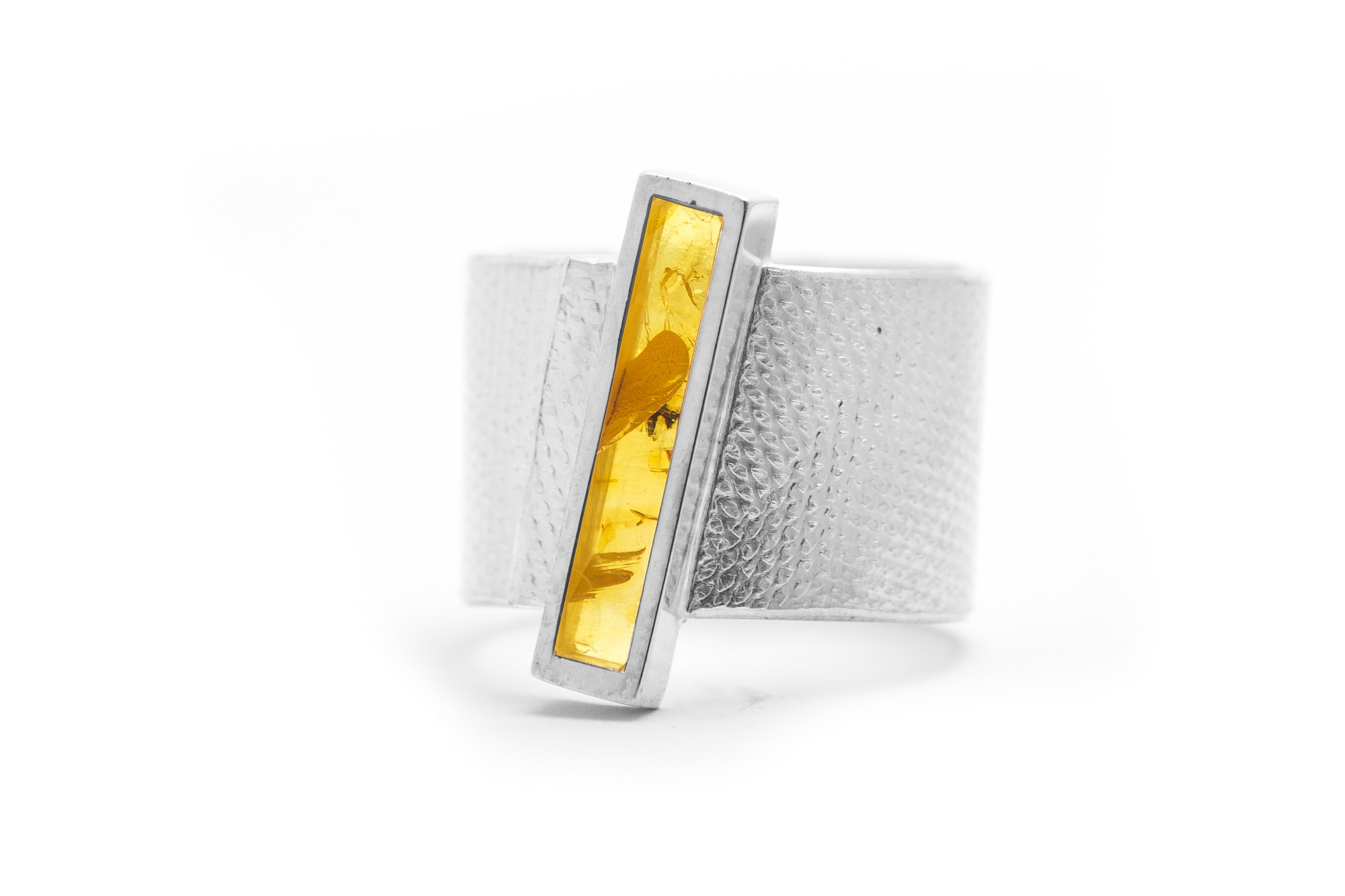 Ring, Silber, Bernstein 324€