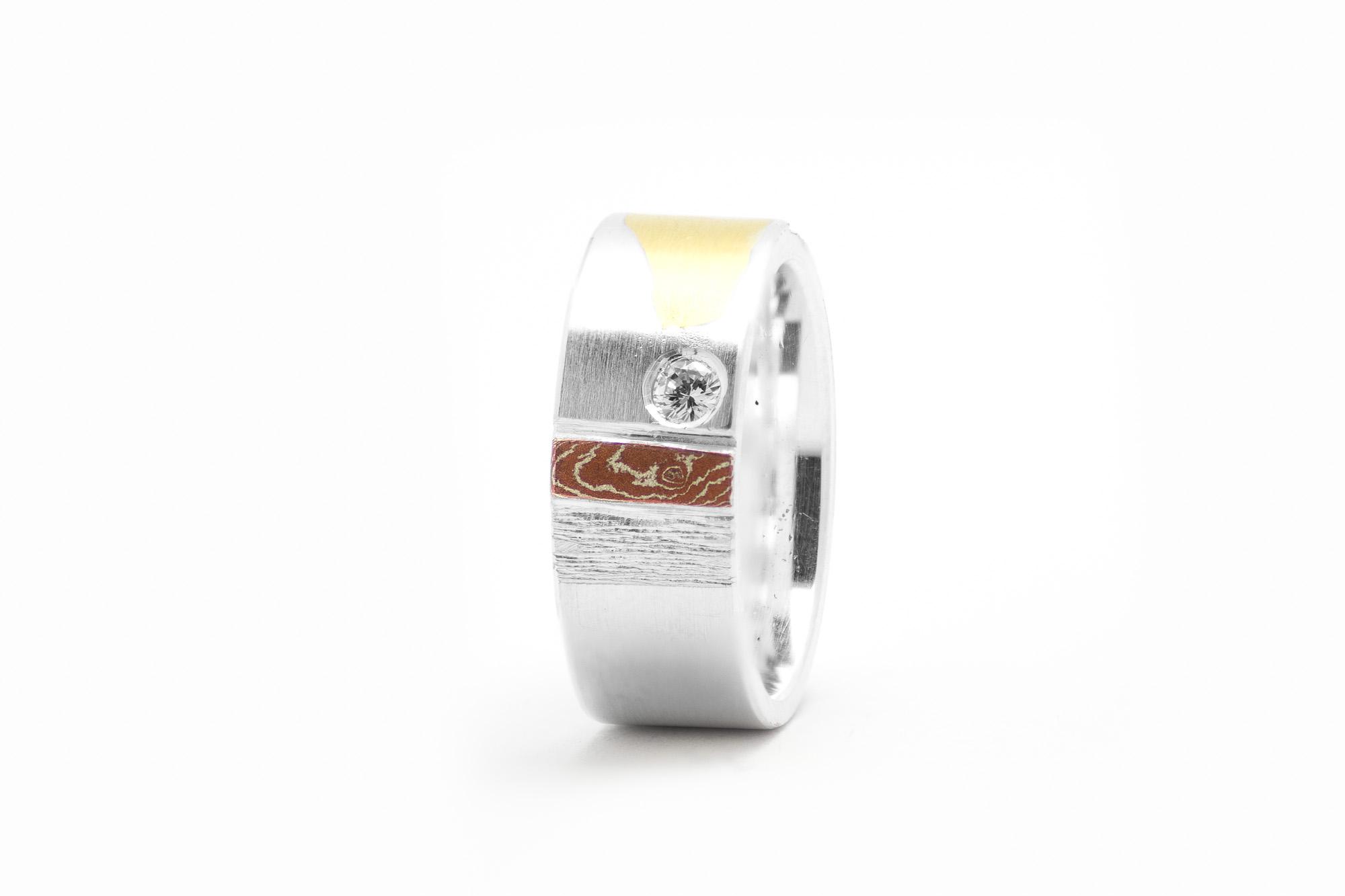 Ring, Silber, Feingold, Brillant 545€