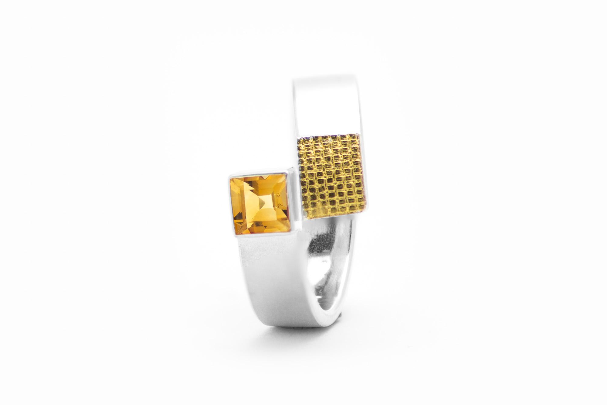 Ring, Silber, Feingold, Citrin 320€