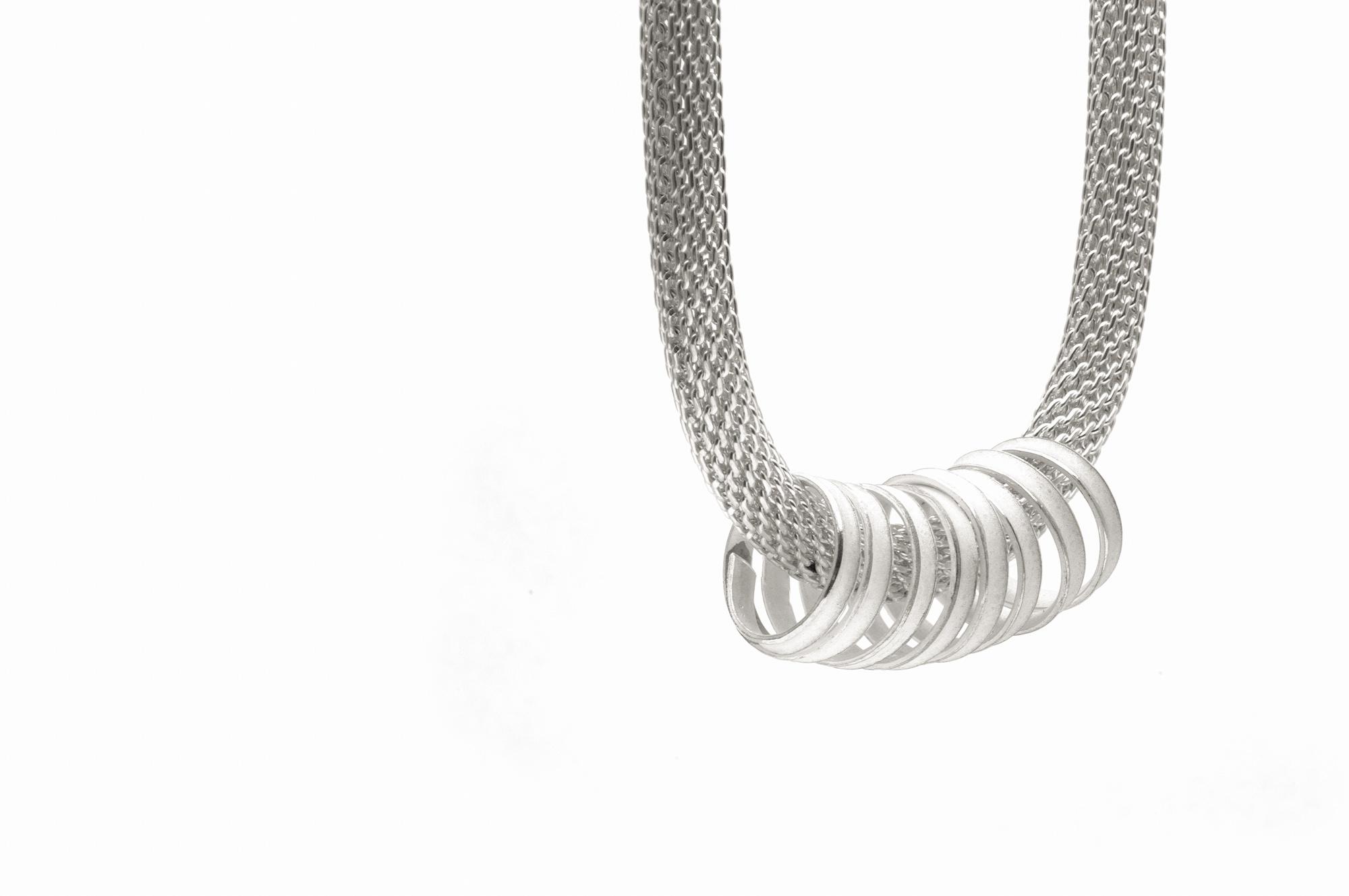 Schlauchkette, Anhänger Silber 298€