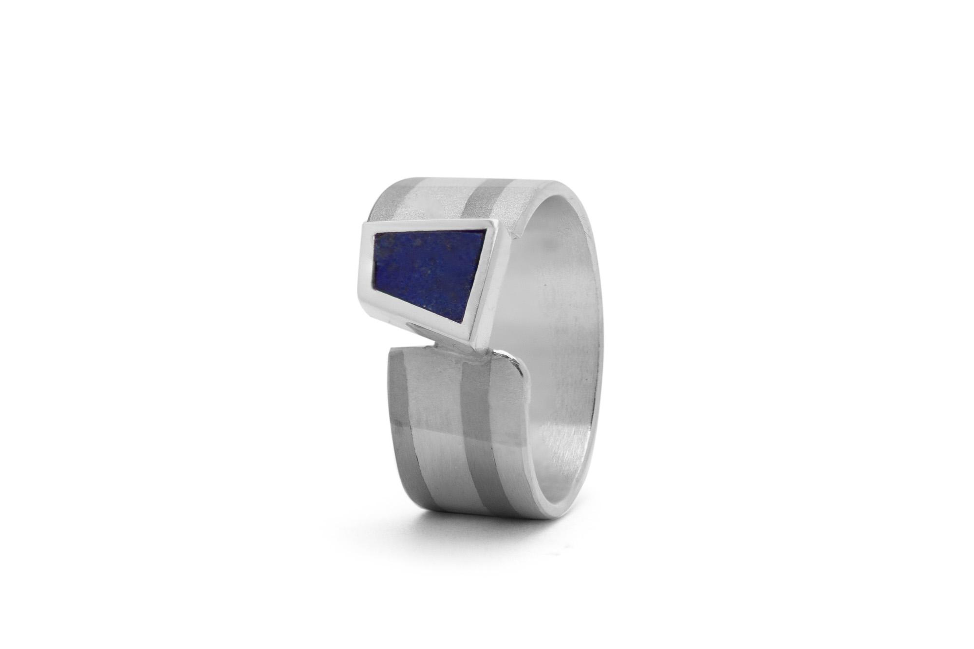 Ring, Silber, Palladium, Lapis 420€
